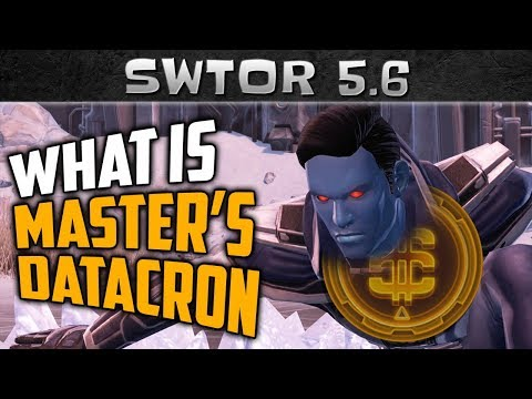 SWTOR Master's Datacron - What Is It? Should You Use It?