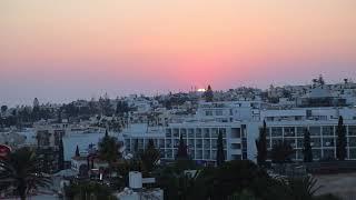 Закат на Кипре. Айя-Напа летом. Sunset in Cyprus. Ayia Napa in the summer.