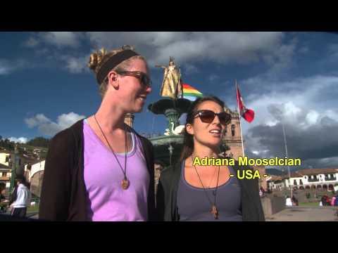 Tourist enjoy attractions of Cusco