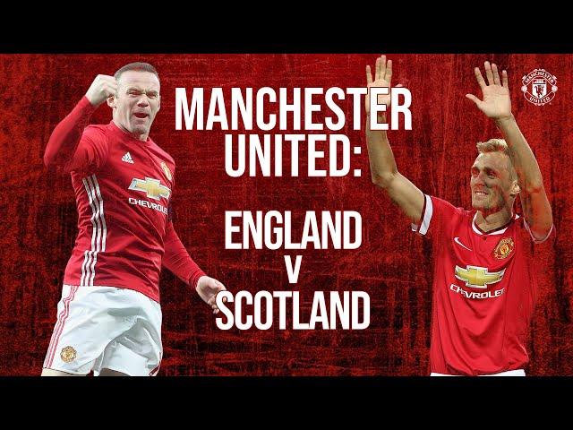 Manchester United: England v Scotland   Rooney, Law, Beckham, Fletcher, Ferdinand, Buchan