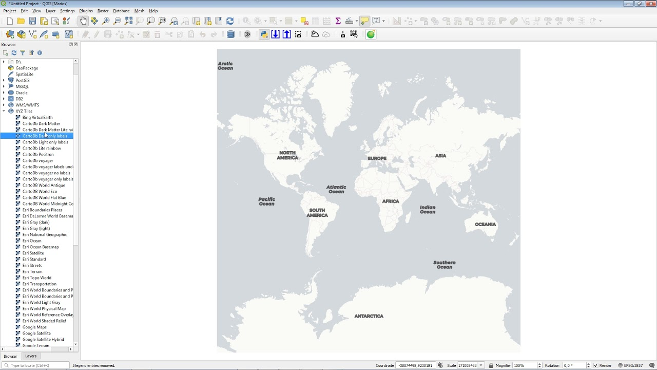How to add XYZ Tiles #QGIS -