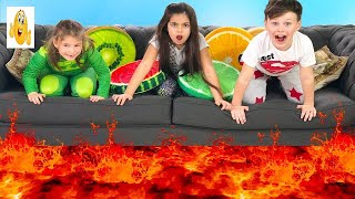 THE FLOOR IS LAVA CHALLENGE! Family Funny Games HD 2018 Vlad
