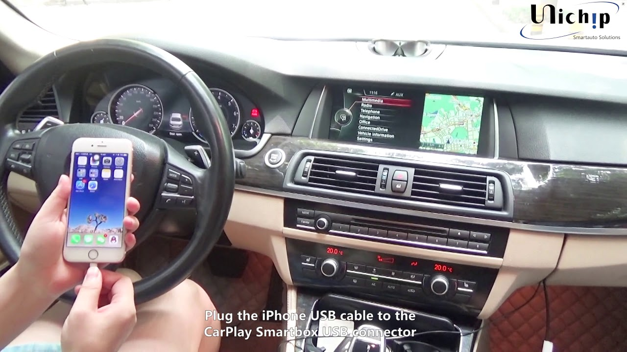 How to install NBT CarPlay for BMW F 5Series 2013 530 - YouTube