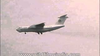 Domestic plane in 1990s landing at Indira Gandhi International Airport, Delhi