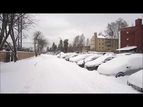 Helsinki Fall Snowstorm: 9.11.2016 - Finland