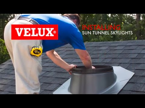 velux install video sun tunnel skylights sd youtube. Black Bedroom Furniture Sets. Home Design Ideas