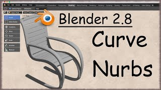 Blender 2.8 - 52 - Nurbs Curve