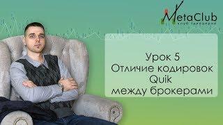 Урок 5  Отличие кодировок Quik между брокерами