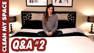 Q&A #2: Essential Oils, Wet Laundry, Cat Trees, Plenty of Fish & More! (Clean My Space) Thumbnail