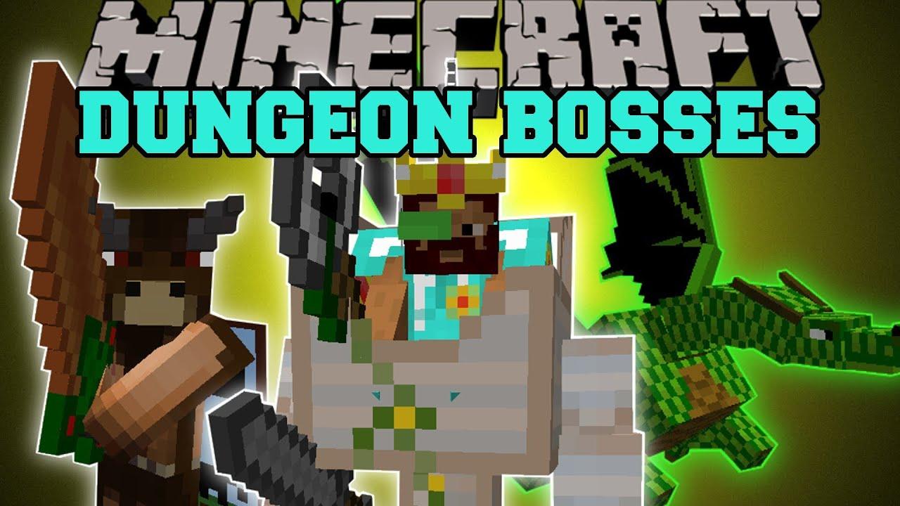 Minecraft: DUNGEON BOSSES (INTENSE NEW BOSS MOBS ) Better Dungeons