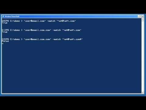 Windows PowerShell Intermediate Chapter 05 - Regular Expressions