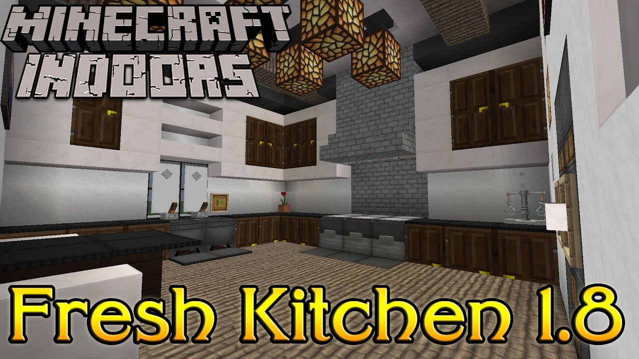 Kitchen Ideas In Minecraft minecraft indoors interior design - fresh kitchen 1.8 - youtube