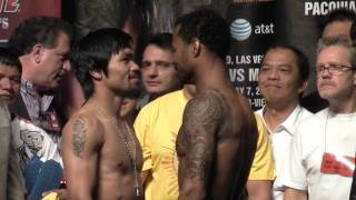 Repeat youtube video WEIGH IN: Manny Pacquiao vs Sugar Shane Mosley weigh-in @ FightFan.com