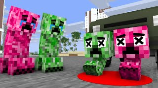 Monster School : Poor Creeper Babies Life - minecraft animation