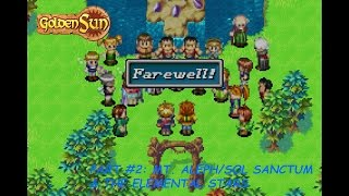 Golden Sun (Wii U 1080p) Part #2: Mt. Aleph/Sol Sanctum & The Elemental Stars