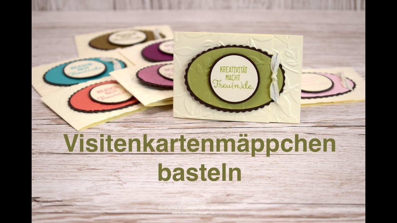 Visitenkartenhalter Basteln Stempelset Kreiert Mit Liebe Stampin Up