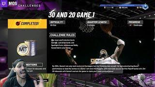 How To Get 20 REBOUNDS With Kevin Garnett in NBA 2K20 MyTeam Spotlight Challenge #7!!!