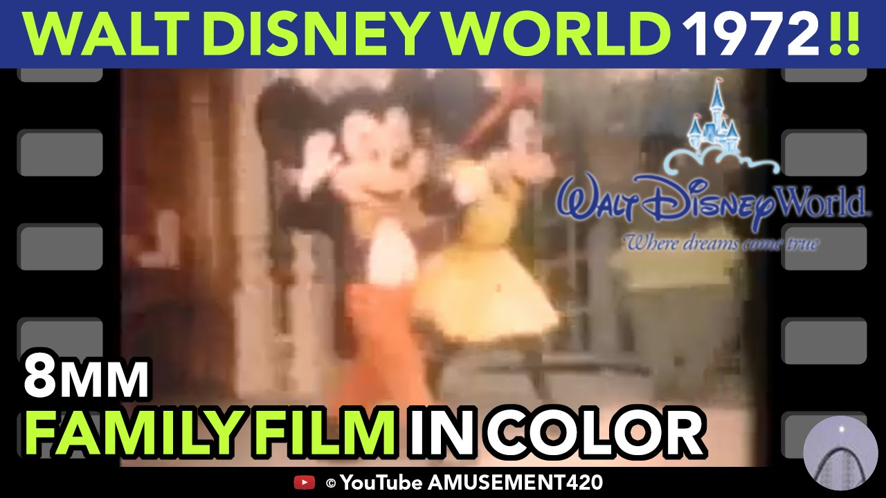 Walt Disney World Magic Kingdom 1972 8mm Family Film! (See Description) | amusement420