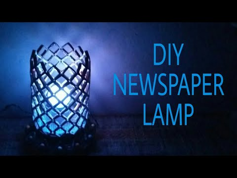 How to make Newspaper Lamp(Best out of waste)