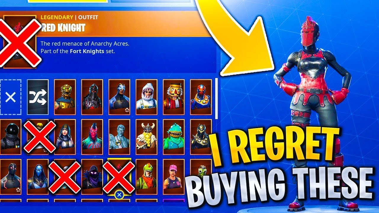 RARE Skins i REGRET Buying in Fortnite! RIP Bank... - YouTube
