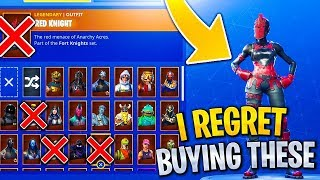 RARE Skins i REGRET Buying in Fortnite! RIP Bank...