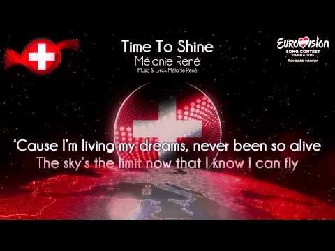 "Mélanie René - ""Time To Shine"" (Switzerland) - [Karaoke version]"