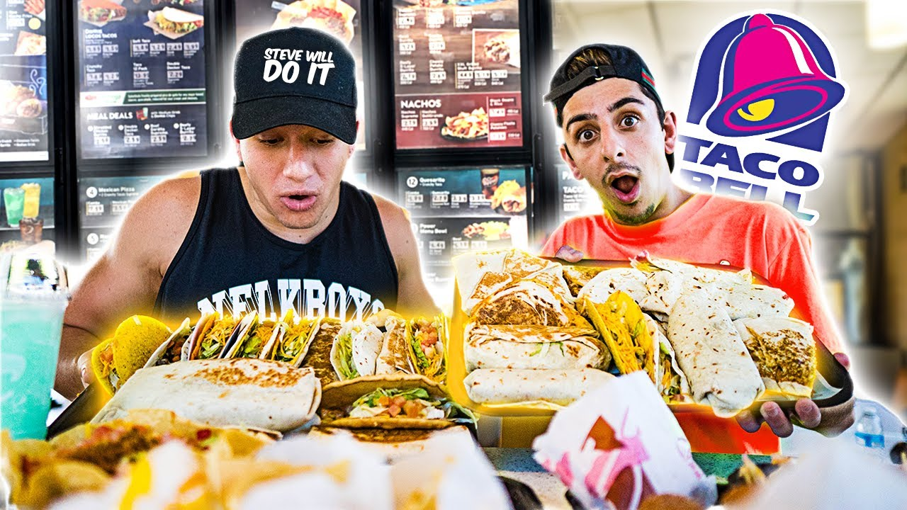 Eating The Entire Taco Bell Menu 50 000 Calories Ft Stevewilldoit Youtube Celina smith is a instagram influencer and she has almost 330k followers on her instagram account. eating the entire taco bell menu 50 000 calories ft stevewilldoit