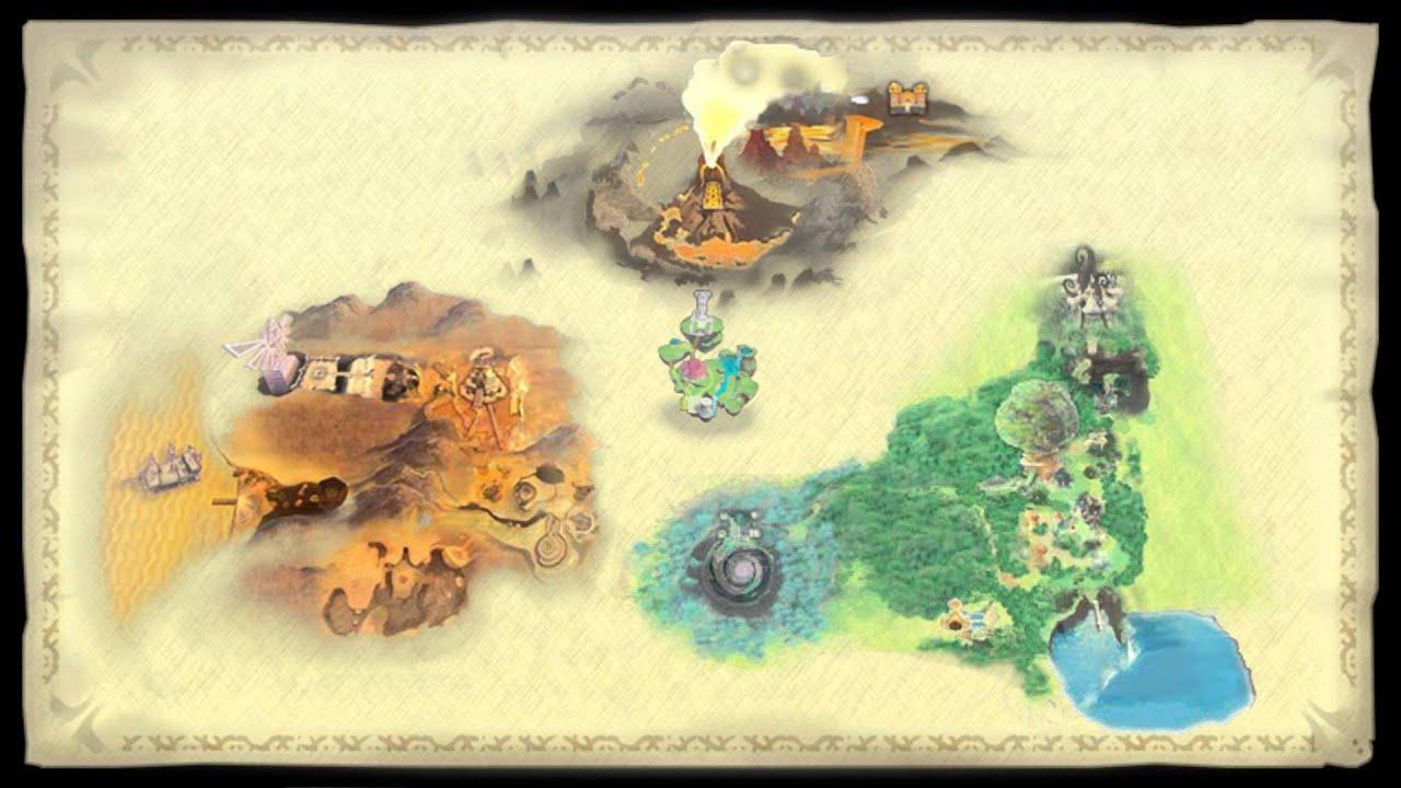 skyward sword world map The Legend Of Zelda Skyward Sword World Map Hd Youtube