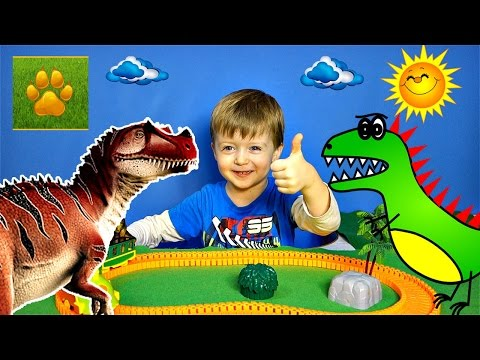 Детям про Динозавров Хищники ЦЕРАТОЗАВР  Поезд Динозавров Детское Видео про Динозавров Lion Boy