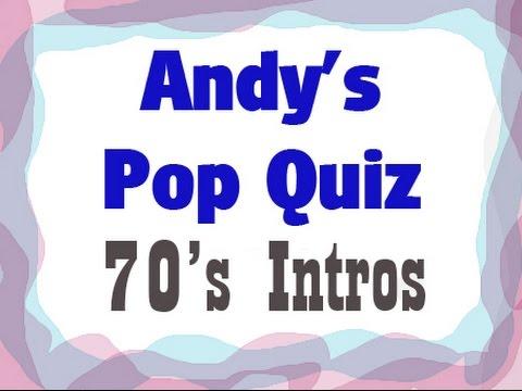 Pop Quiz No2 - 10 x 70's Intros