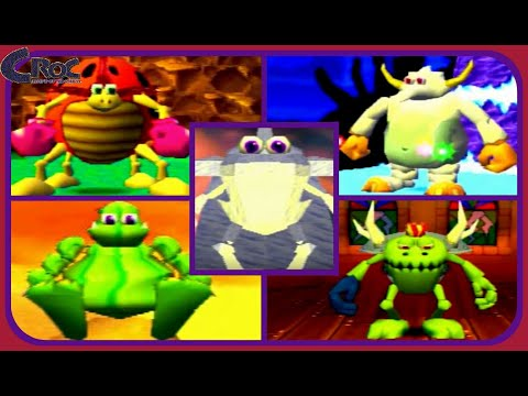 Croc: Legend of the Gobbos: All Boss Encounters-Perfect!