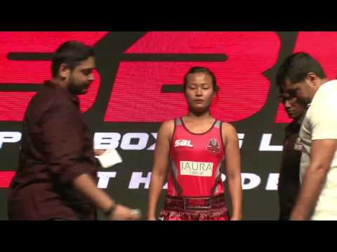 Weigh-In Faceoffs for Super boxing league 15july match | Delhi Gladiators v/s  UP Terminators #SBL