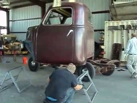 1950 Chevy 3100 Pick Up Truck Lifting The Cab Off The Old