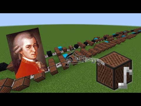 Minecraft: A Little Night Music - W. A. Mozart with Note Blocks (easy version)