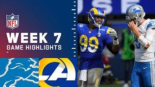 Lions vs. Rams Week 7 Highlights | NFL 2021