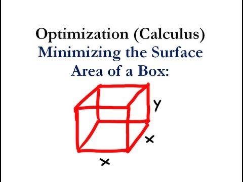 Optimization (Calculus) - Minimizing Surface Area - Worked Example ...