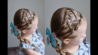 Criss Crossed Double Pull Through Braid *Updated* | Q's Hairdos