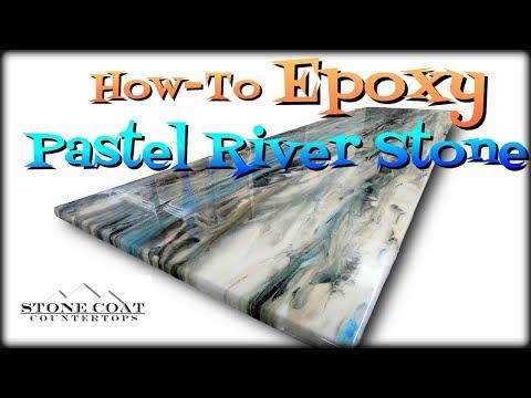 How-To Epoxy Pastel River Stone