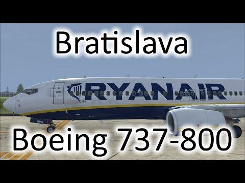 FSX | Ryanair 737 Landing at Bratislava, Slovakia (LZIB) (Multiple Views)