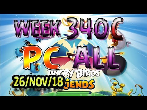 Angry Birds Friends Tournament All Levels Week 340-C PC Highscore POWER-UP walkthrough