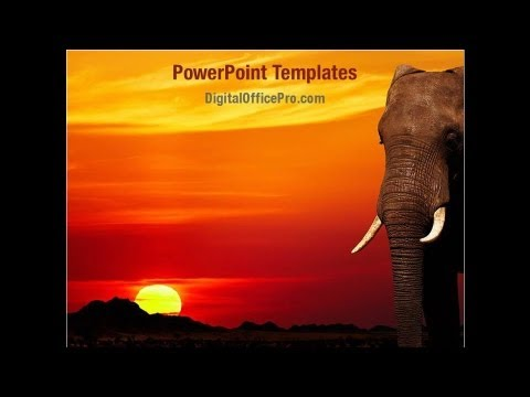 African elephant powerpoint template backgrounds digitalofficepro african elephant powerpoint template backgrounds digitalofficepro 00042 toneelgroepblik Image collections