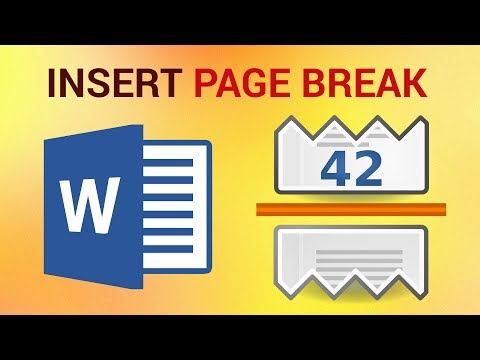 How To Insert And Remove A Page Break In Word 2016