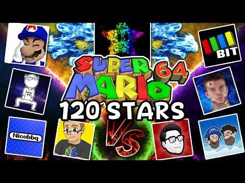 10 Youtubers VS 1 Speedrunner [120 stars SM64] ft. SimpleFlips, SMG4, SomethingElseYT, NicoBBQ +more