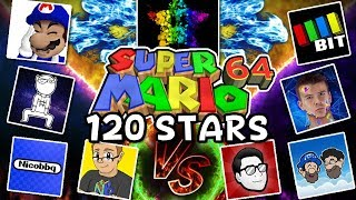 10 Youtubers VS 1 Speedrunner [120 stars SM64] ft. SimpleFlips, SMG4, SomethingElseYT, NicoBBQ +more