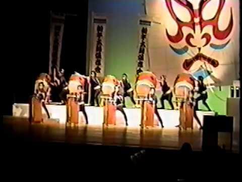 Taiko drumming in Kawaguchi-shi, Saitama, Japan 1997