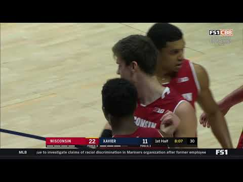 Wisconsin Badgers - Wisconsin tops Xavier 77-68, improves to 2-0