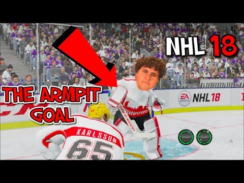 THE ARMPIT GOAL?? CRAZY CS GAMEPLAY NHL 18!!