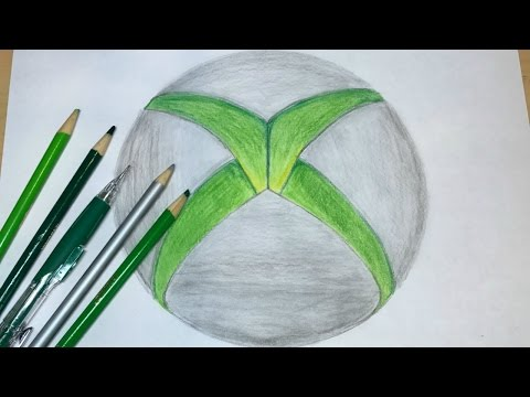 How to Draw the XBOX Logo | Logo Drawing