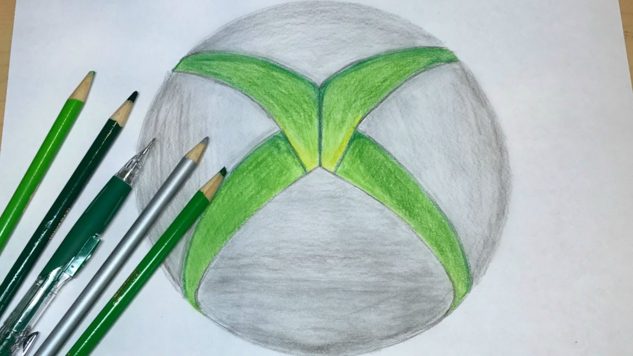 D Line Drawings Xbox : How to draw the xbox logo drawing youtube