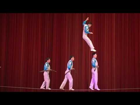 Circus show in Pyongyang North Korea 720p